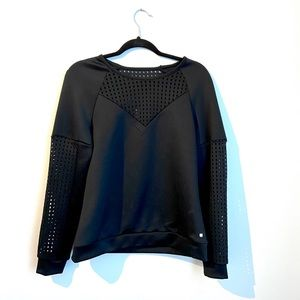 NWT Black Mesh Workout Top | Fabletics
